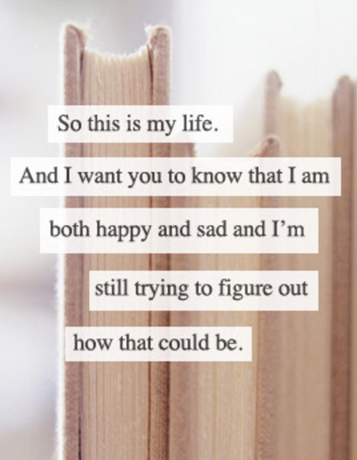 both happy and sad