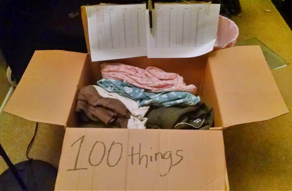 100 Things Minimalist Challenge Box